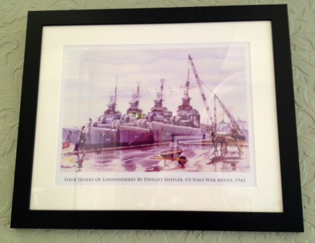 ww2 watercolours of Derry and Lough Foyle at Beech Hill Country House Hotel