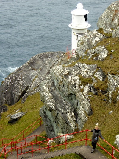Susan Byron at the Sheep's Head Lighthouse in West Cork.