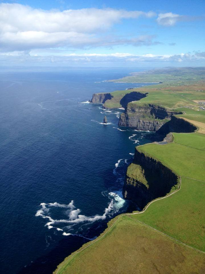 Cliffs of Moher from the air