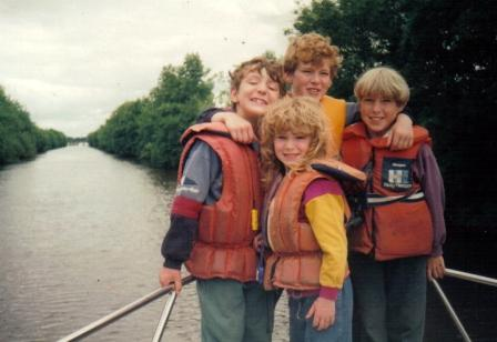 My four when they were little, Stephen, Ross, Daniel and Audrey, Byron