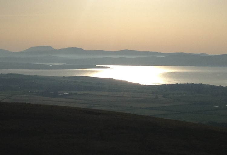 Sunset Grianan an Aileach, Inishowen, County Donegal