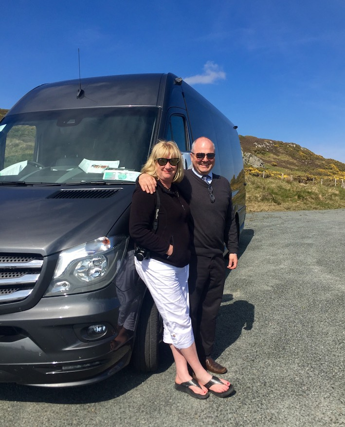 Guide Susan Byron and Driver Tony O'Reilly
