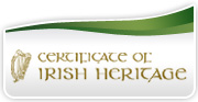 Claim your Certificate of Irish Hetitage online