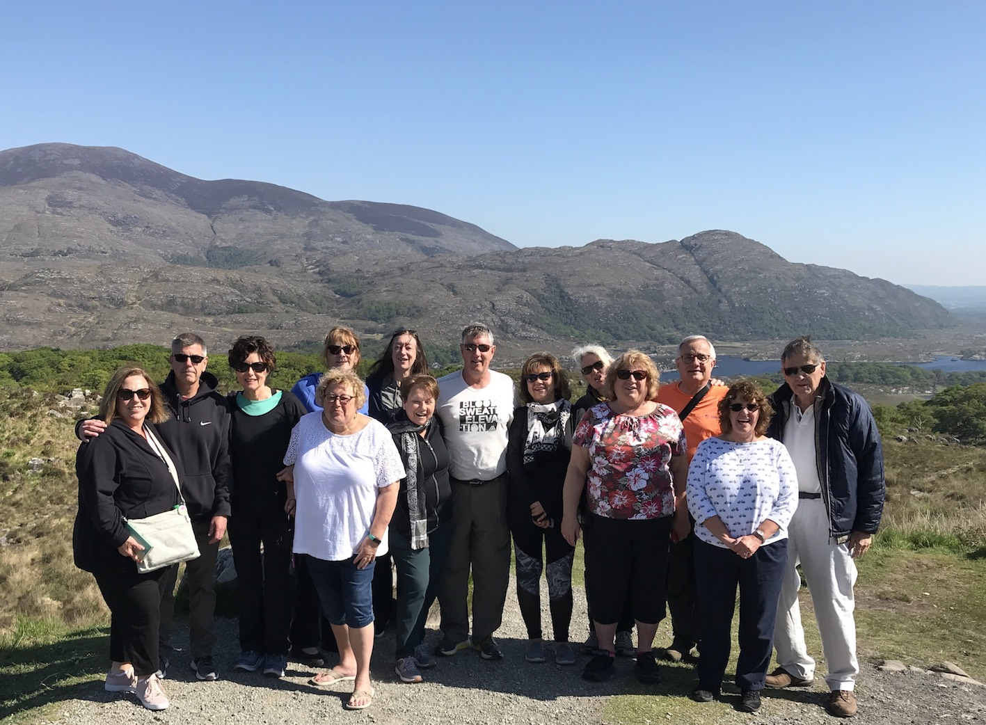 May 2018 Tour Group at the Ladie's View, Killarney