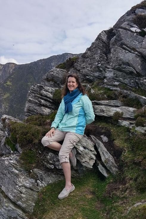 Sara Lynn above at Sliabh Liag in Donegal