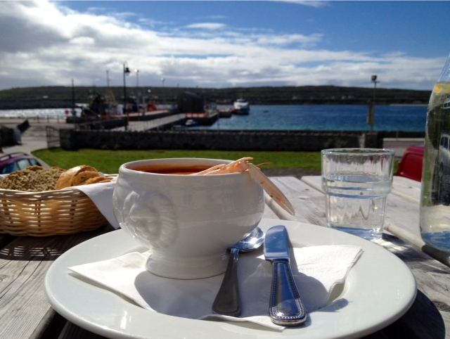 chowder with a view at Kilronan