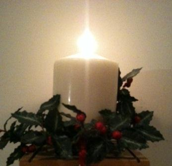 Chrismas candle in Ireland