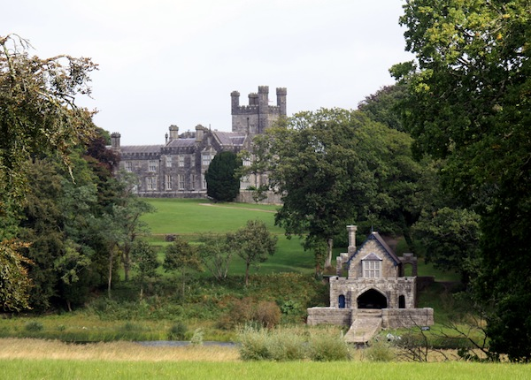Crom Castle and boat house, County Fermanagh, Northern Ireland