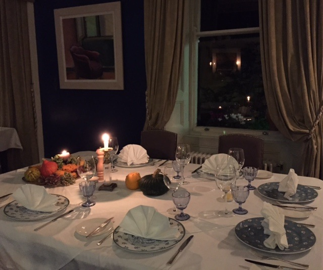 Candlelit diningroom at Mustard Seed Restaurant, Echo Lodge, County Limerick