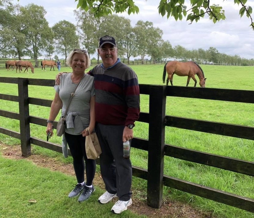 Donna and Mike Cushing at the Irish National Stud in County Kildare