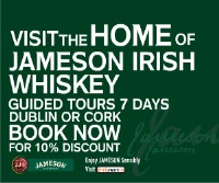 Save 10% on Jamesons Tour Tickets by Booking Online