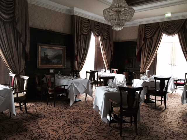 Kilronan Castle, dining room.