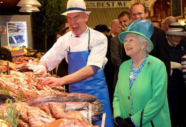 Queen Elizabeth II visiting the English Market in Cor May 2011