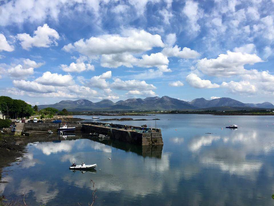 Roundstone Harbour, Connemara on a beautiful calm day - photo credit Susan Byron