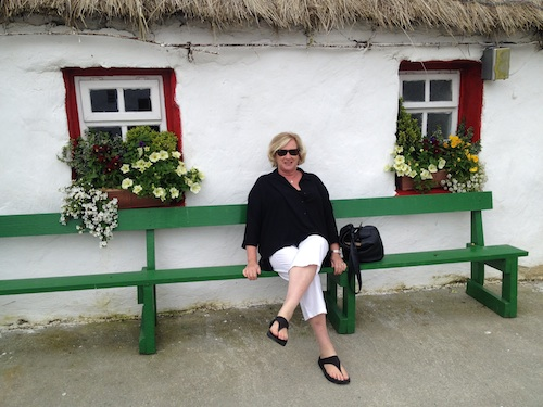 Susan Byron at Doagh Famine Village, Inishowen, County Donegal