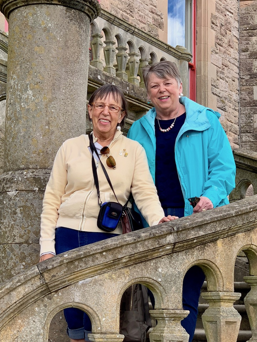 Shirley Byron and her sister Susan Jacobi at Belfast Castle
