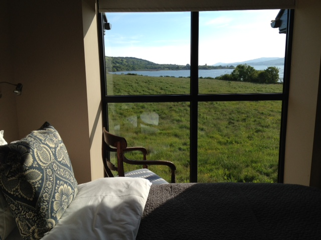 A room with a sea view at Blairs Cove, West Cork