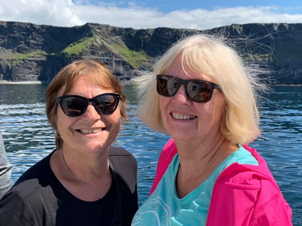Kerry James & Valerie Jones on the Cliffs of Moher Cruise from Doolin