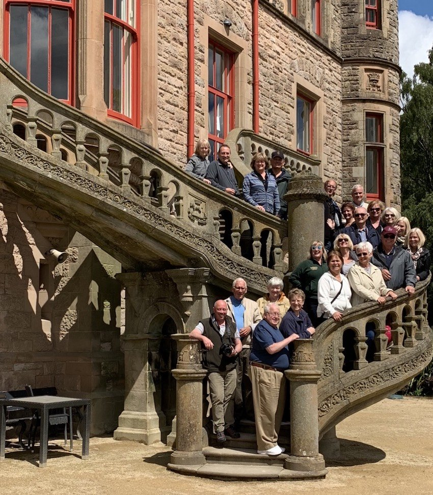 2019 June Tour Group at Belfast Castle in Northern Ireland
