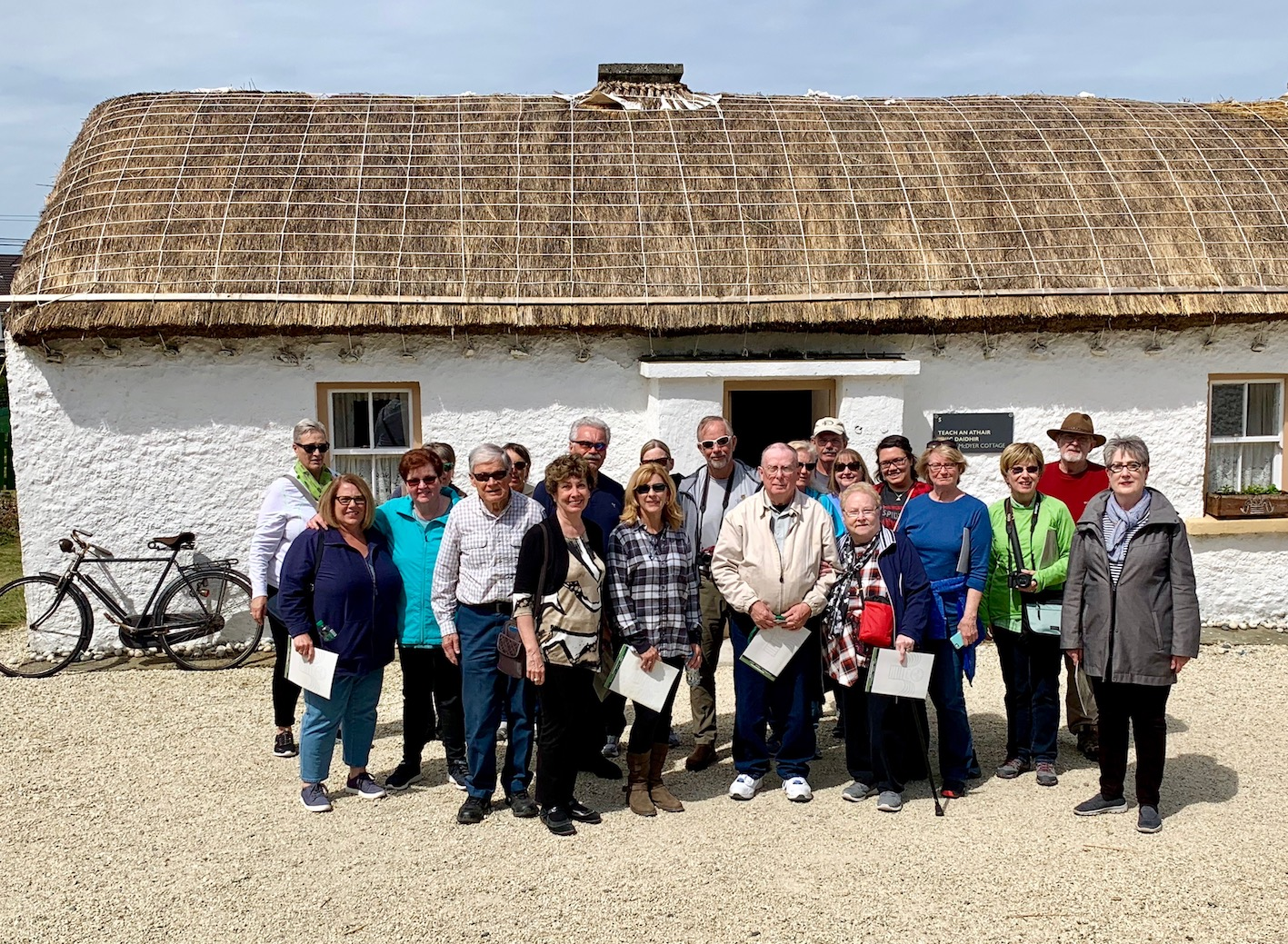 2019 May Tour Group in Glencolmcille in Donegal