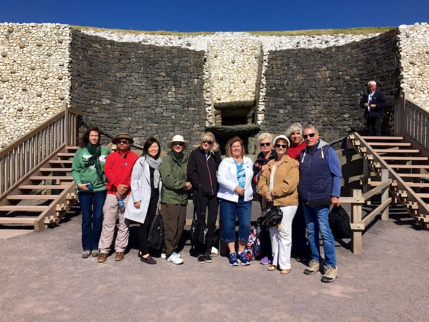 2017 May Tour Group Photo Newgrange