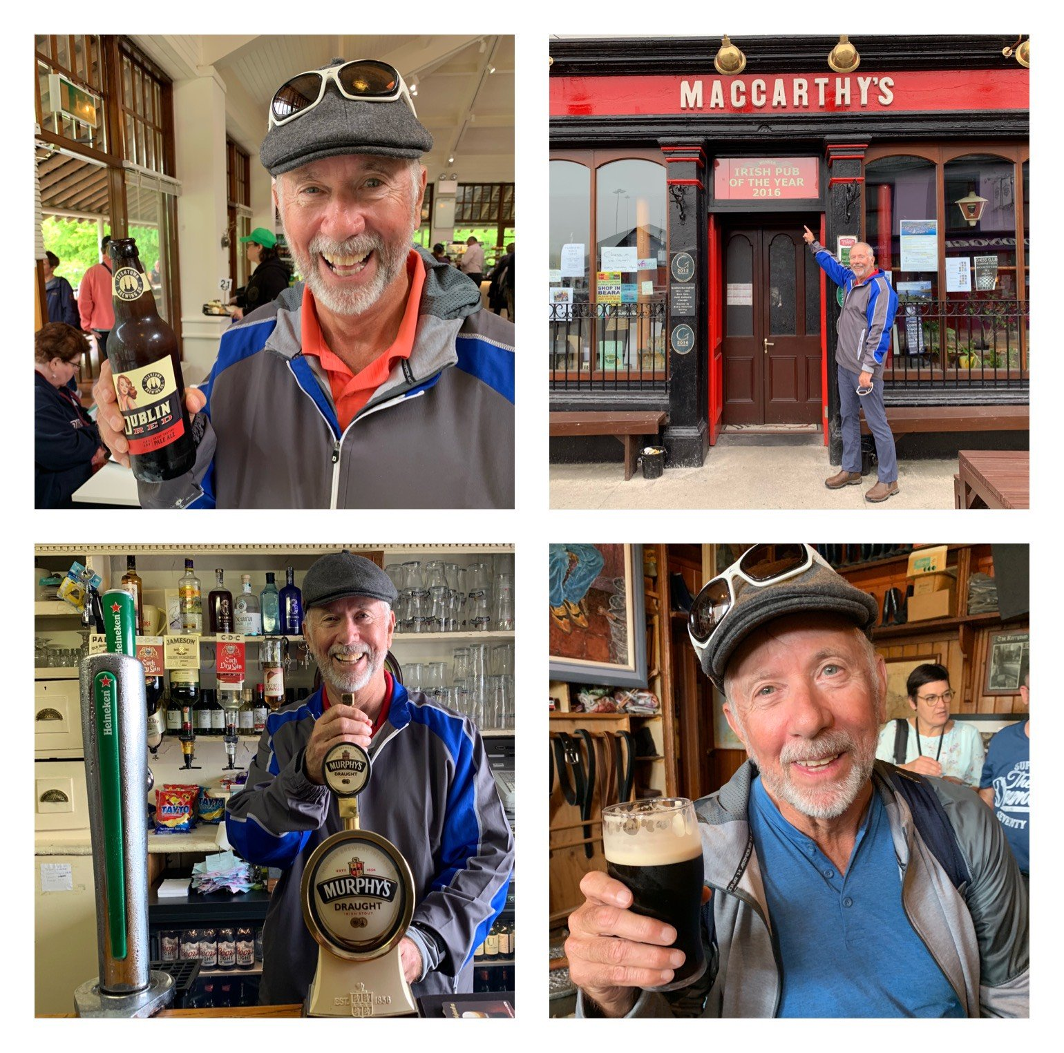 Berl Wyatt enjoying one of many beers in Ireland!