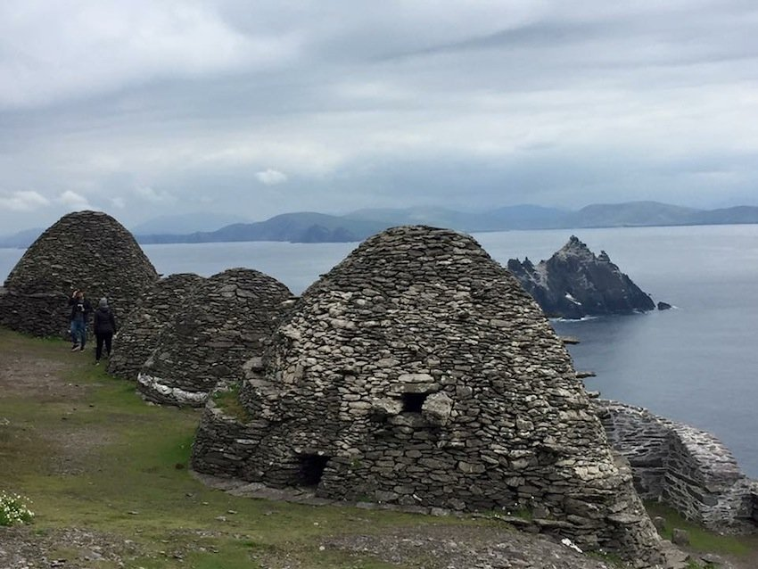 Monastery and beehive huts, Skellig Michael, County Kerry.