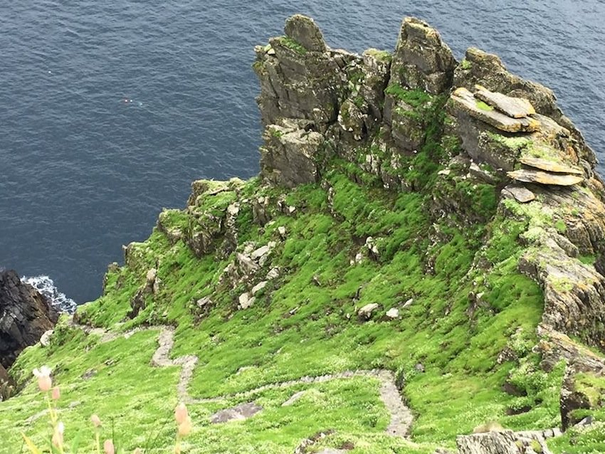 The old path up to the top of Skellig Michael, County Kerry.