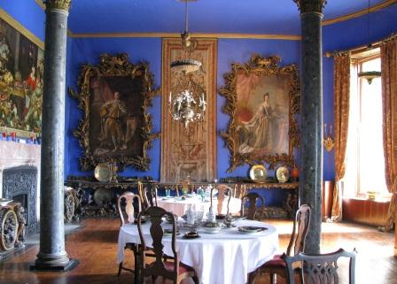 The Diningroom at Bantry House in West Cork, Ireland