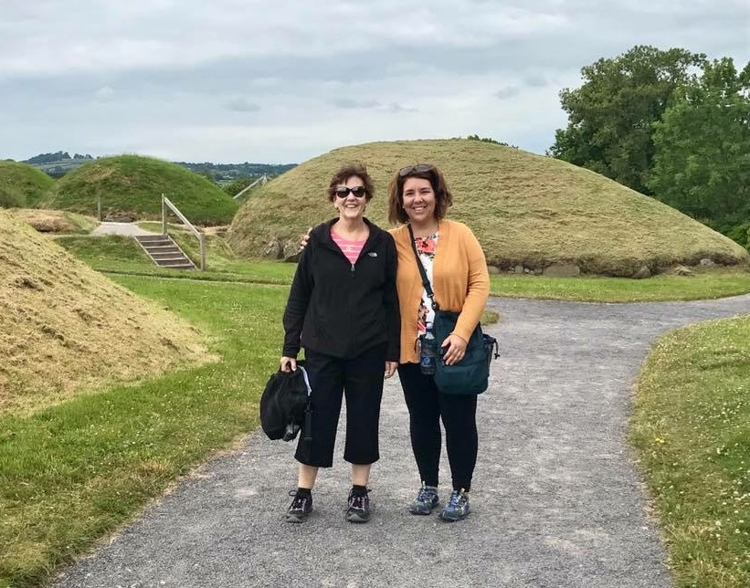Barbara Woller and her daughter Sarah Fry at Knowth, County Meath