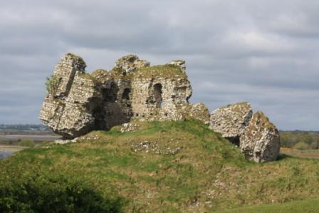 Ruined castle at Clonmacnoise