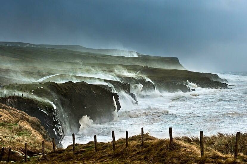 Cliffs of Moher on a wild day....