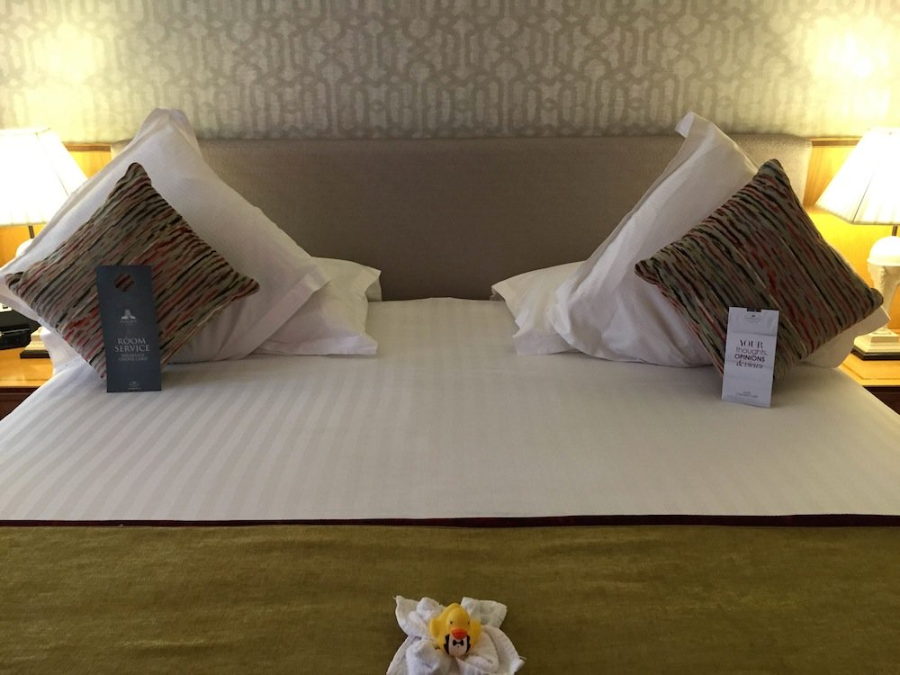 Very cosy bedrooms at Europa Hotel complete with cute yellow bath duck!