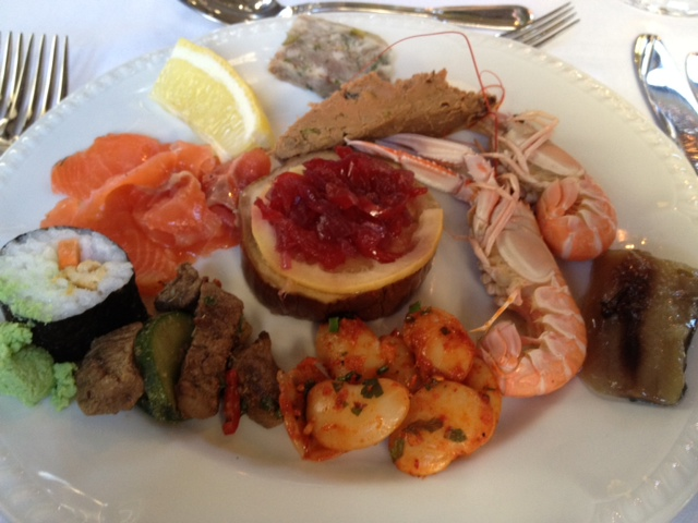 Buffet starter at Blairscove Restaurant
