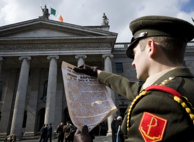 GPO - Dublin re-enactment of the Proclamation 1916