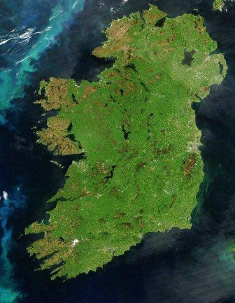 Ireland by satellite on a clear day!