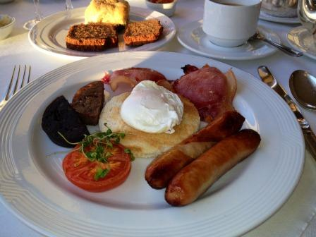 Choose from a 'full Irish' or continental style breakfast....