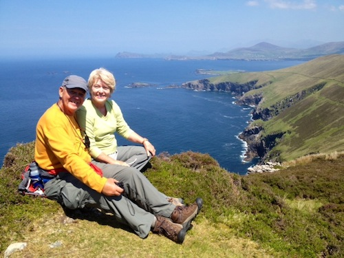Jack & Karen Shannon from California on the Great Blasket island, County Kerry