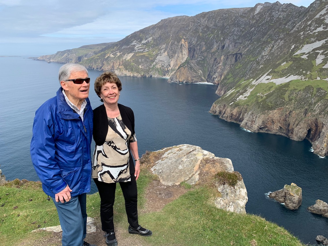 Jack & Marilyn Lieby at Sliabh Liag Cliffs in Donegal