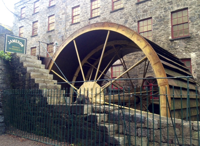 The Old Mill Wheel at Jameson's Middleton Distillery still churning away in County Cork.