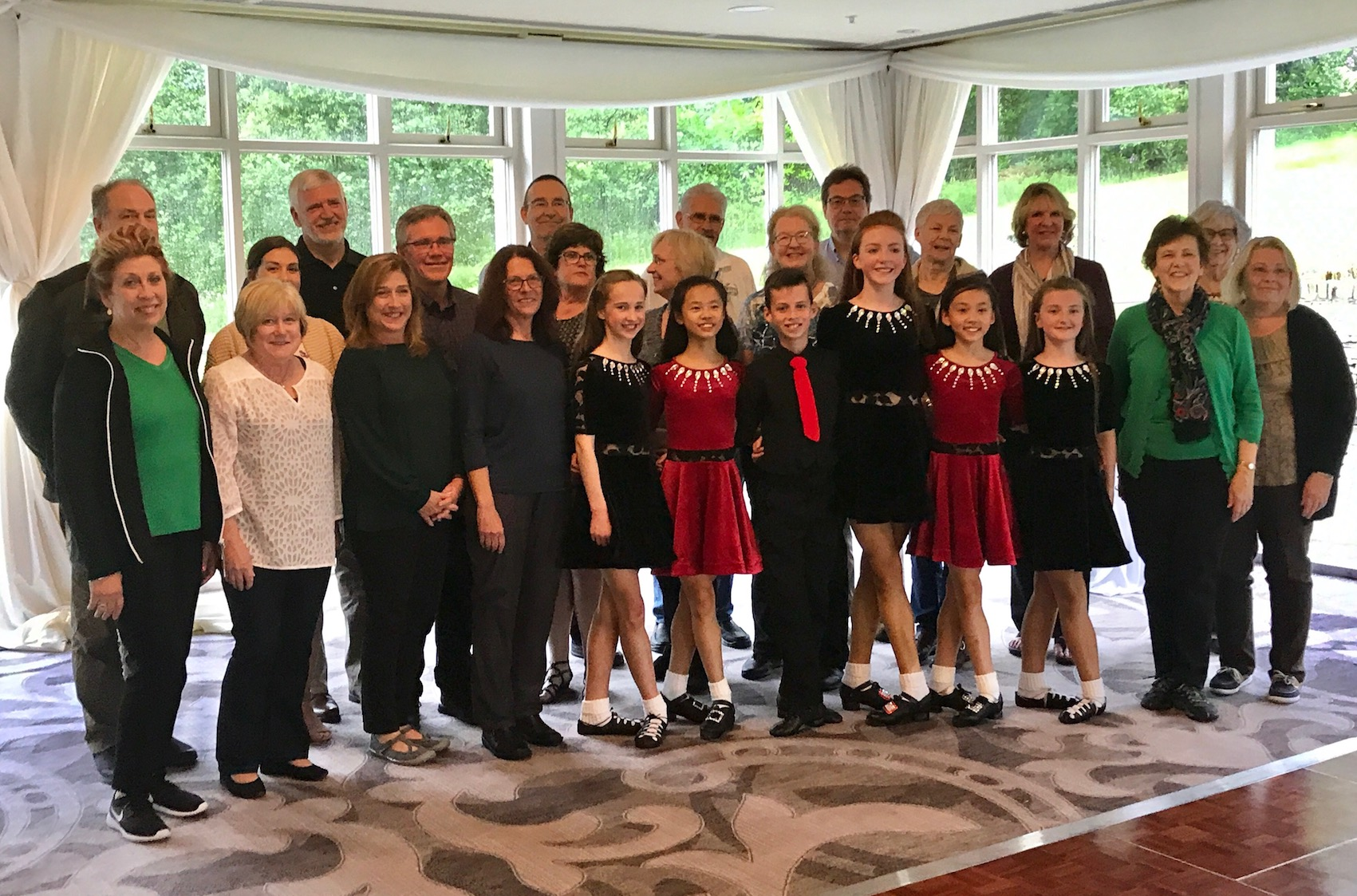 2018 June Tour group with Irish Dancers in Donegal