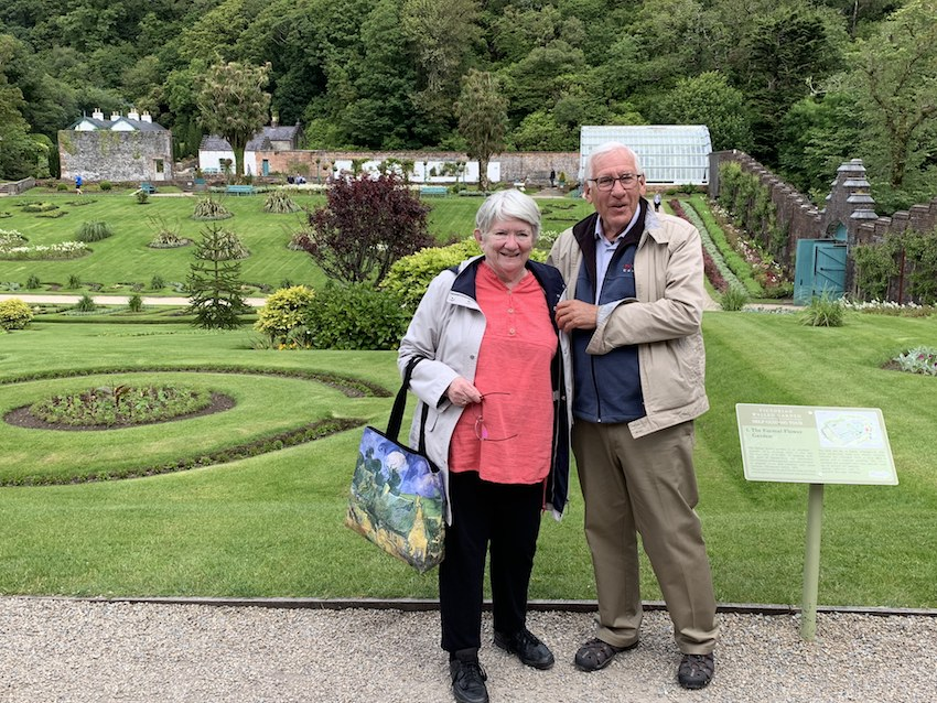 Kate Merry and Gerald Tibbits at the gardens in Kylemore Abbey in Connemara
