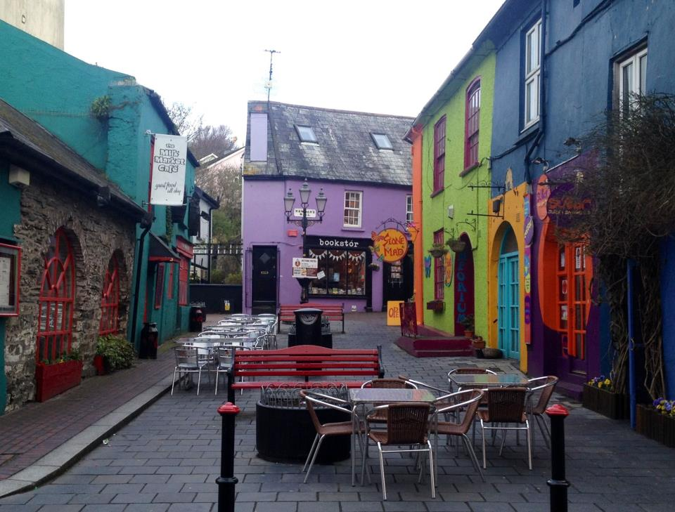 Colourful house in the original market area of Kinsale, County Cork