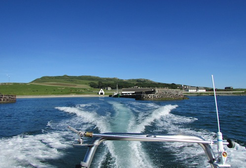 Leaving Lambay Island