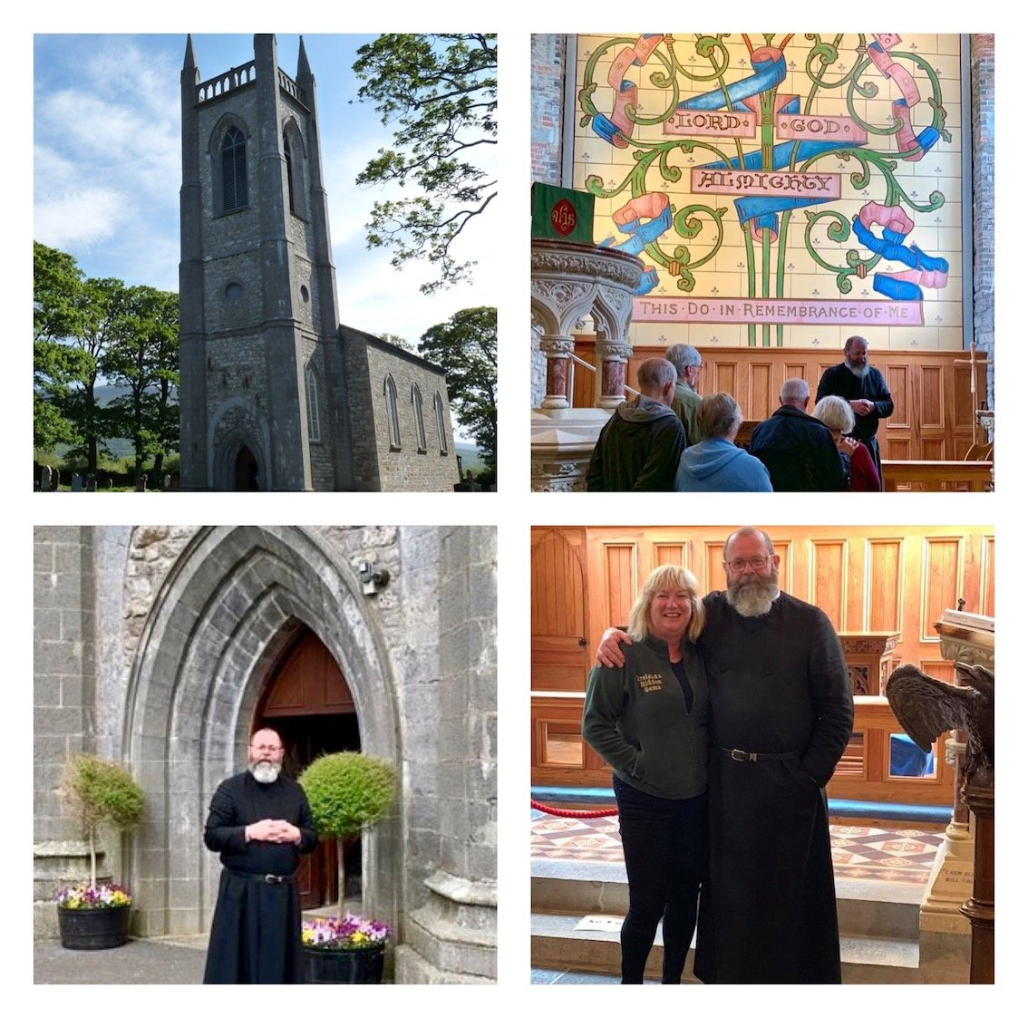 Dean Malcolm Young & Tour Guide Susan Byron at Drumcliff Church County Sligo