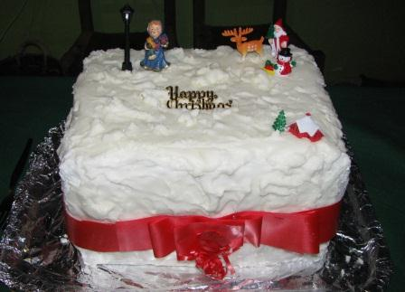 Irish Christmas Cake, no doubt laced with whiskey!