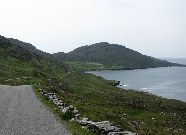 King of the road on the Beara Peninsula without a coach in sight...