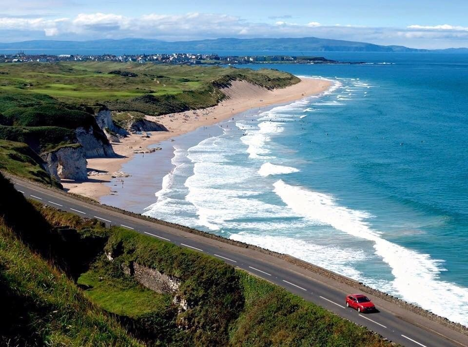 The Antrim Causeway Coastal Route in Northern Ireland