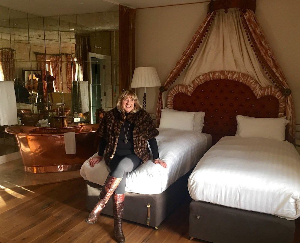 Susan Byron in Room 151, The Lodge at Ashford Castle