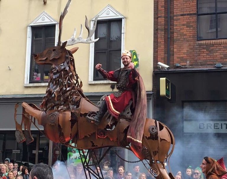 Macnas mechanical horse on parade